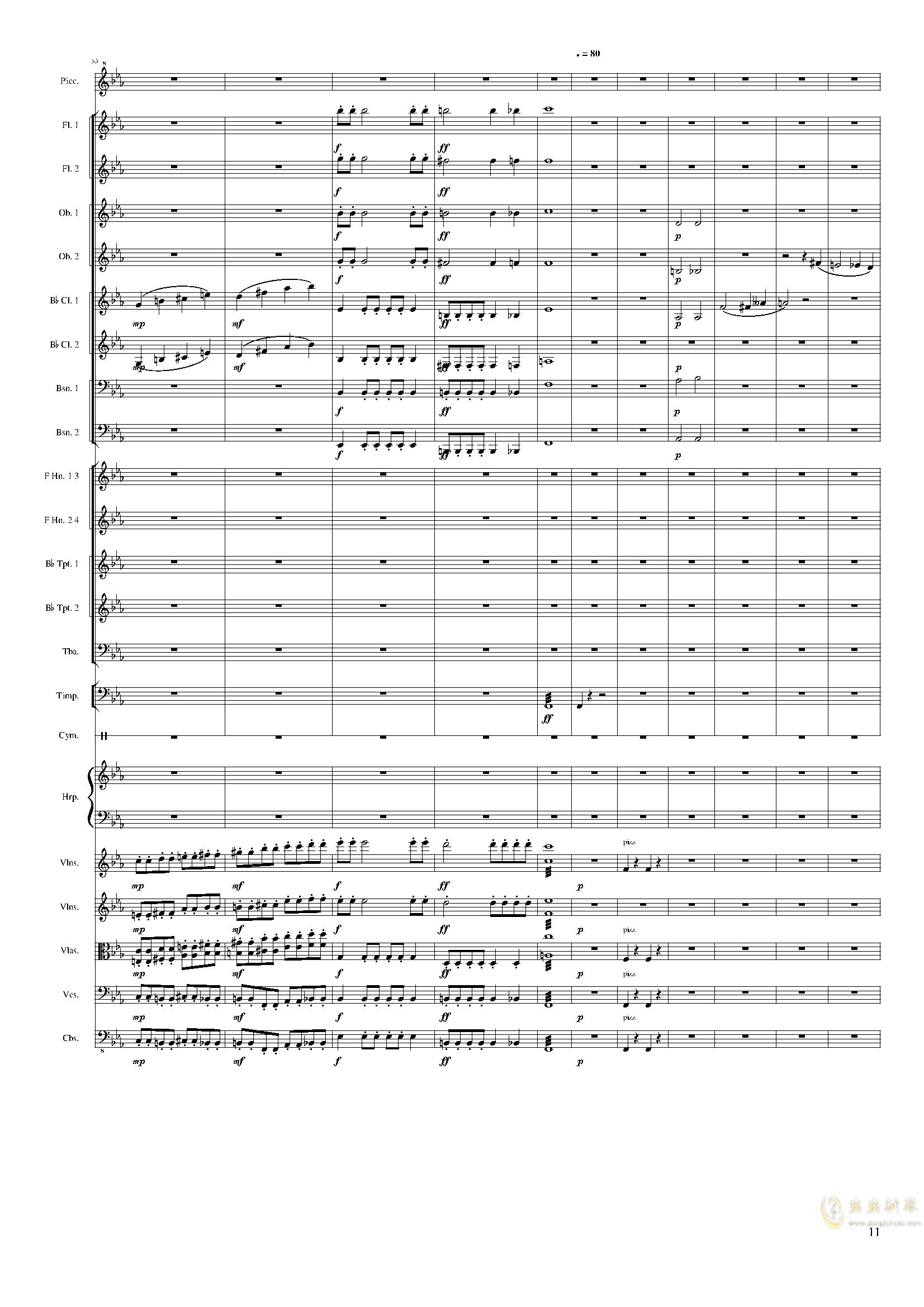 Symphonic Poem No.2, Op.65钢琴谱 第11页