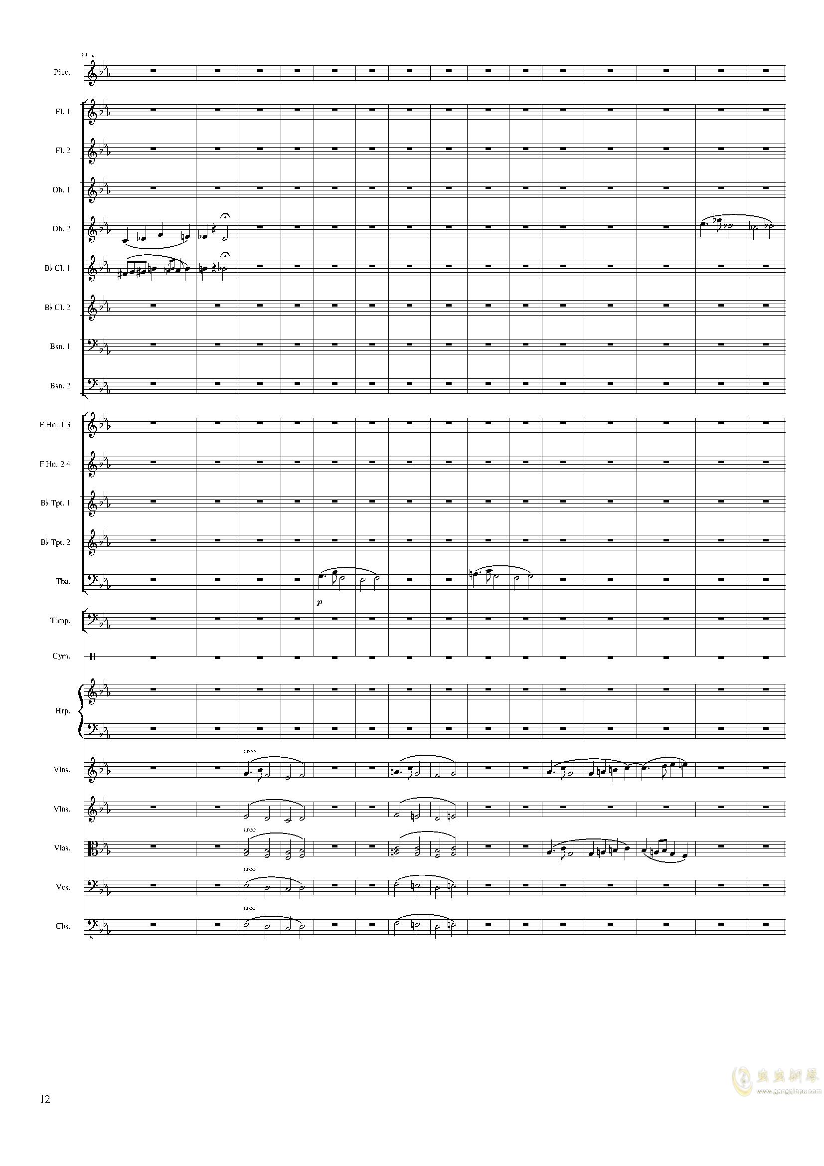 Symphonic Poem No.2, Op.65钢琴谱 第12页