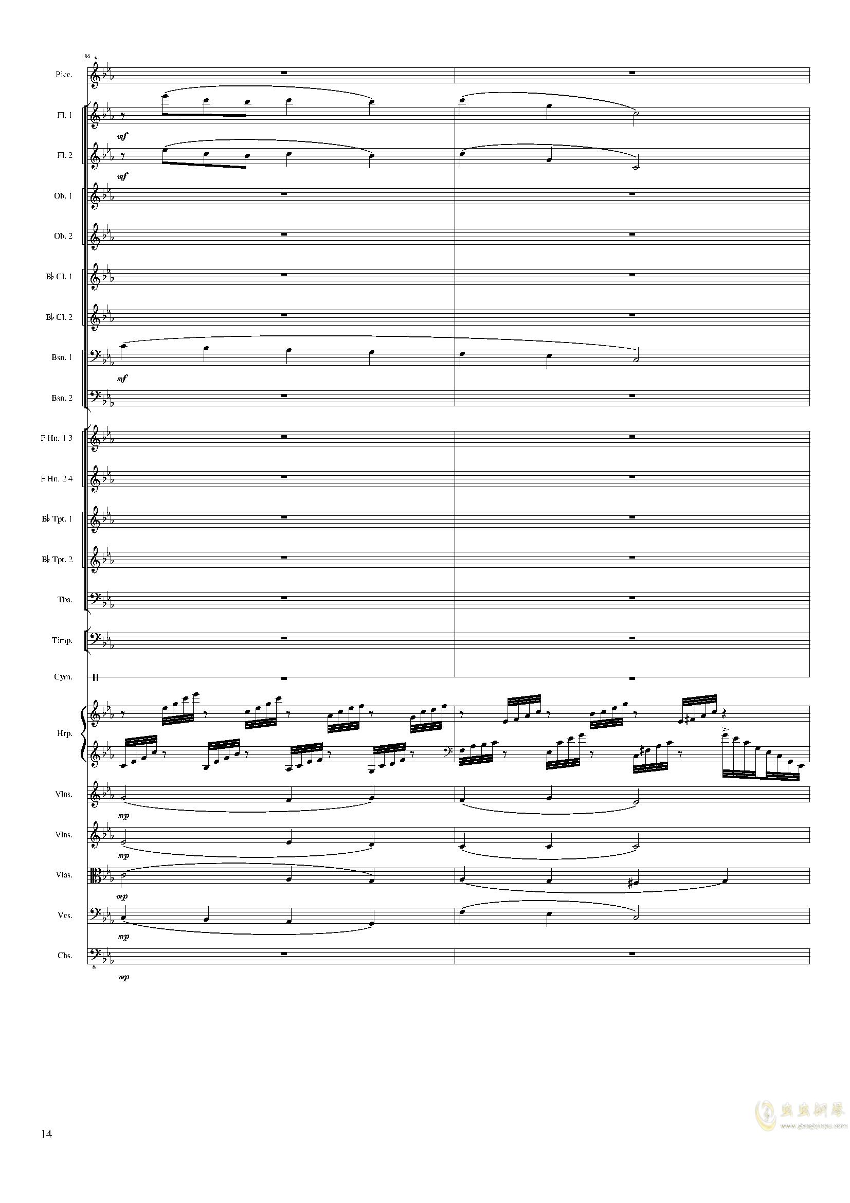 Symphonic Poem No.2, Op.65钢琴谱 第14页