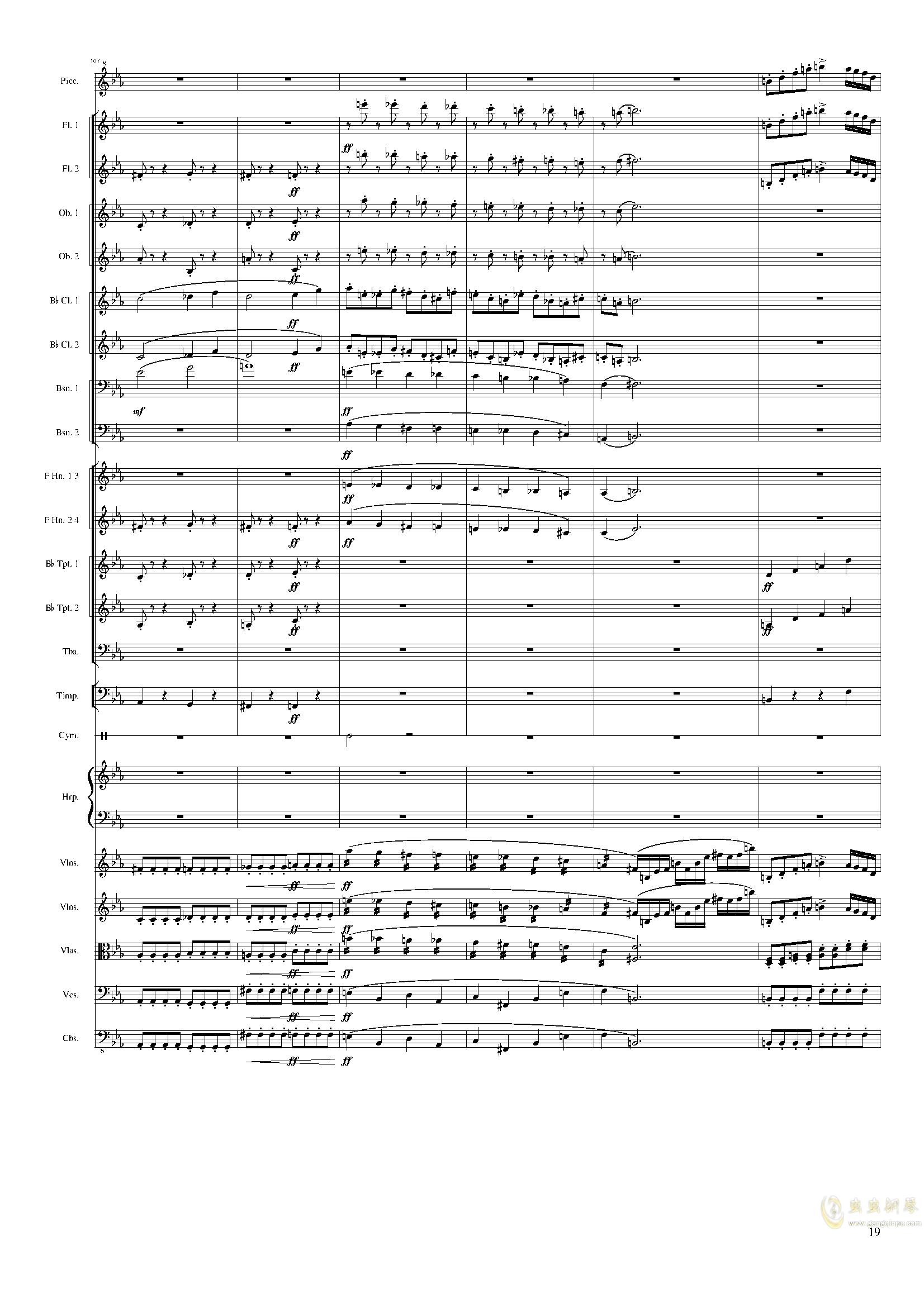 Symphonic Poem No.2, Op.65钢琴谱 第19页