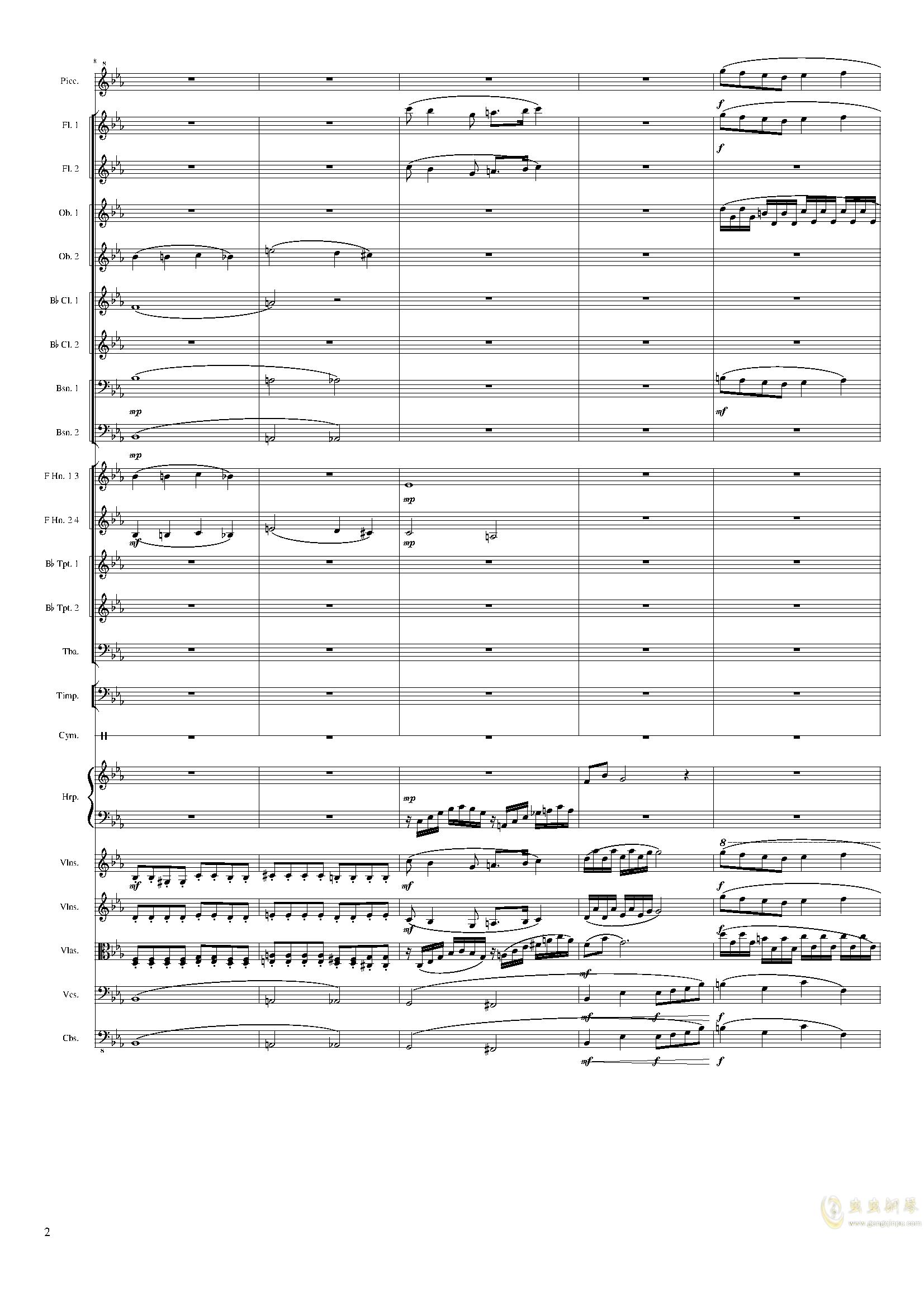 Symphonic Poem No.2, Op.65钢琴谱 第2页