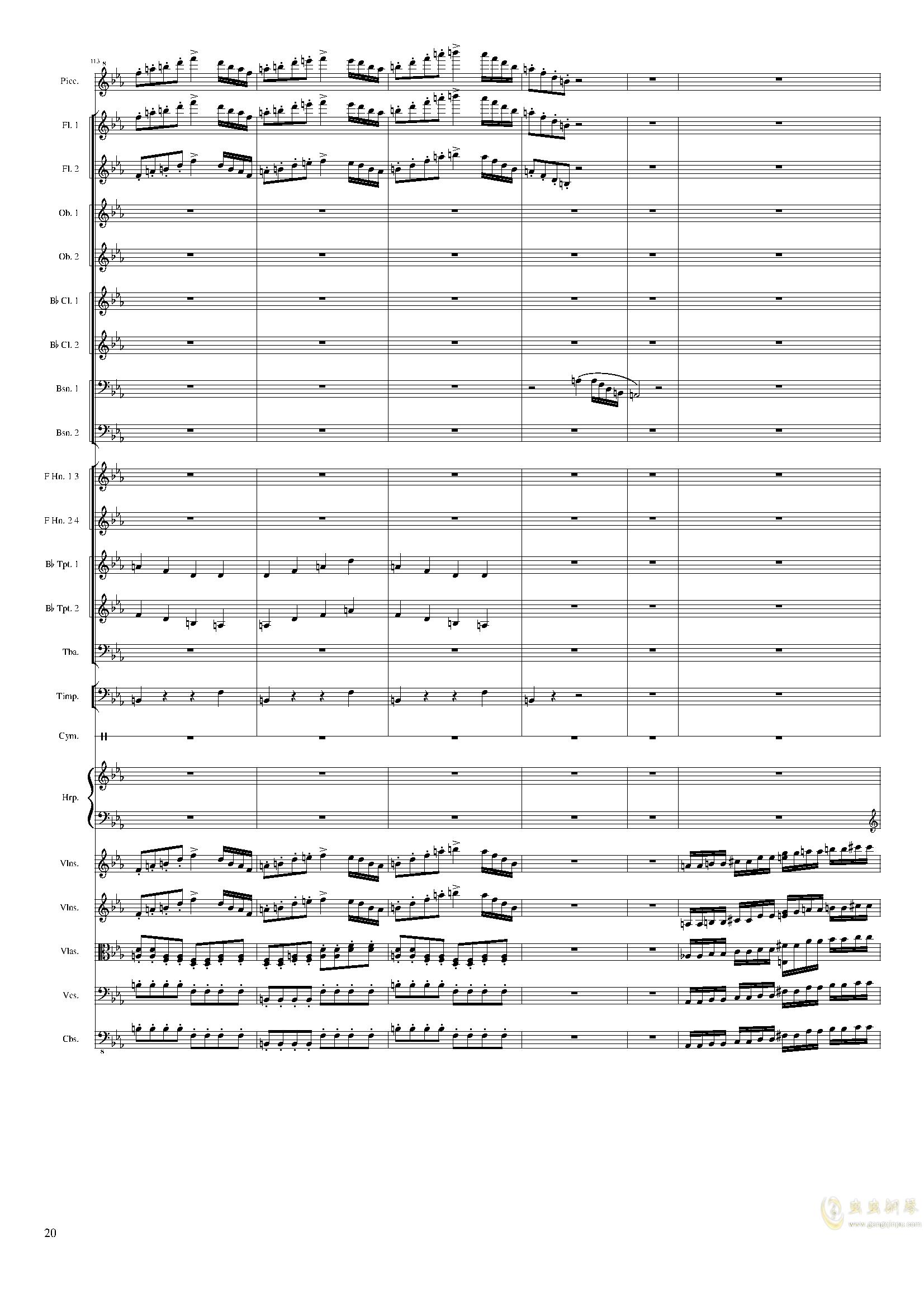 Symphonic Poem No.2, Op.65钢琴谱 第20页