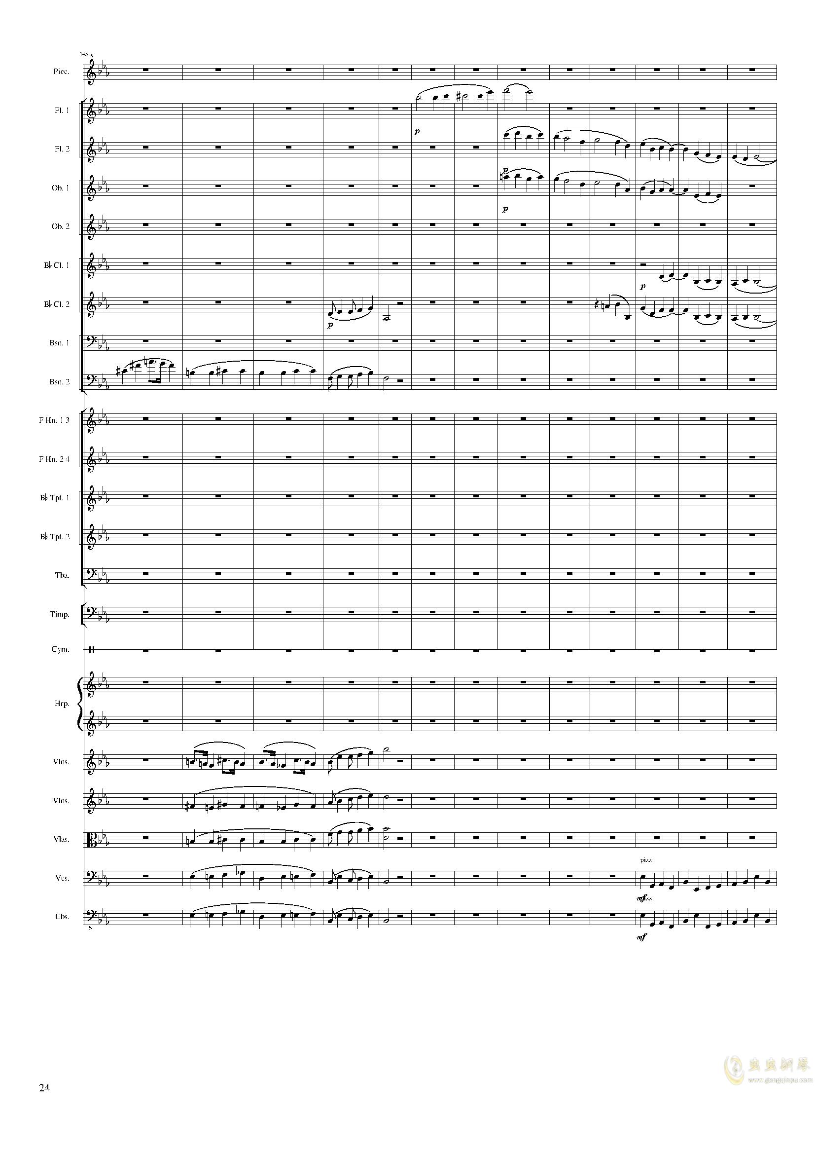 Symphonic Poem No.2, Op.65钢琴谱 第24页