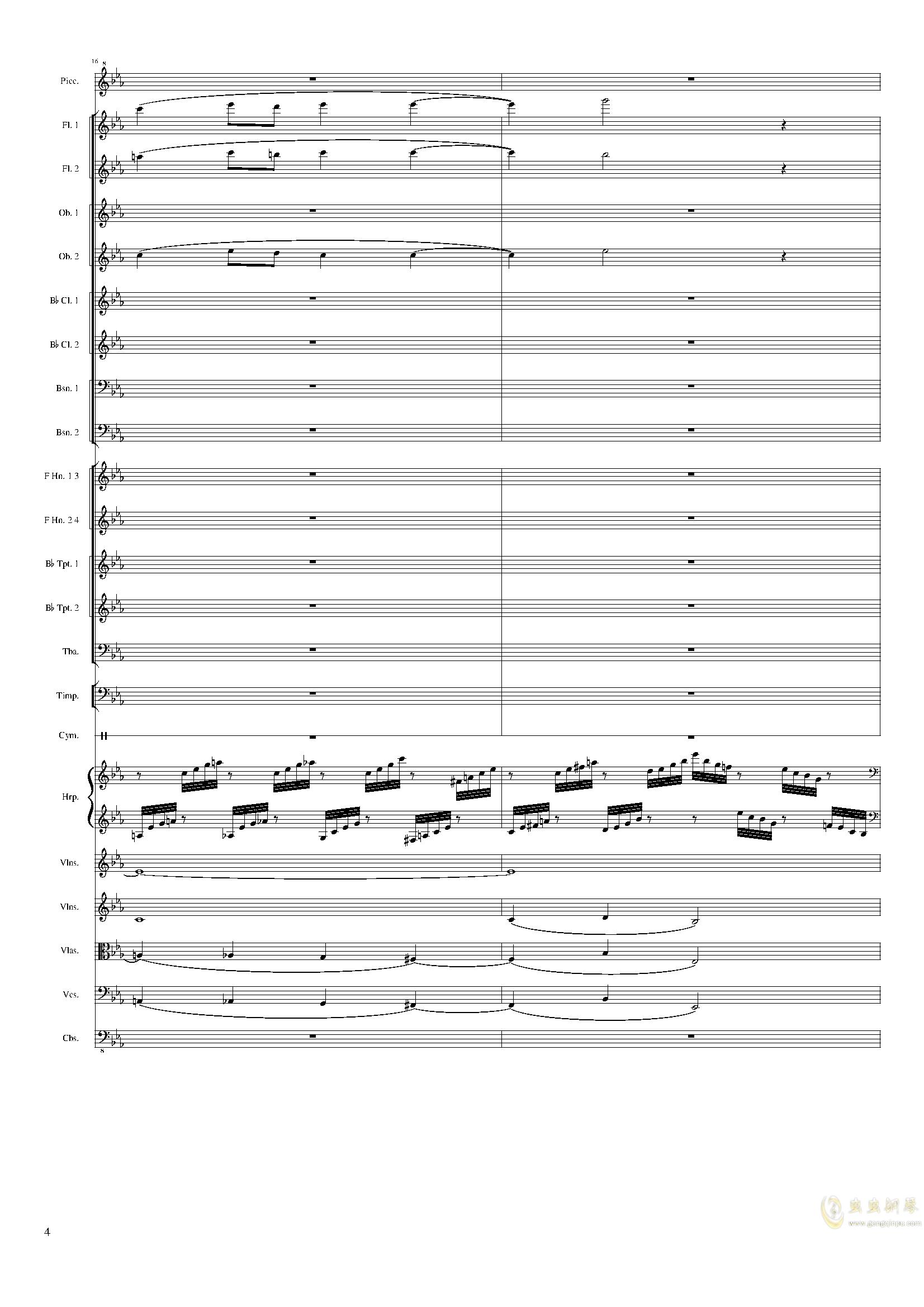 Symphonic Poem No.2, Op.65钢琴谱 第4页
