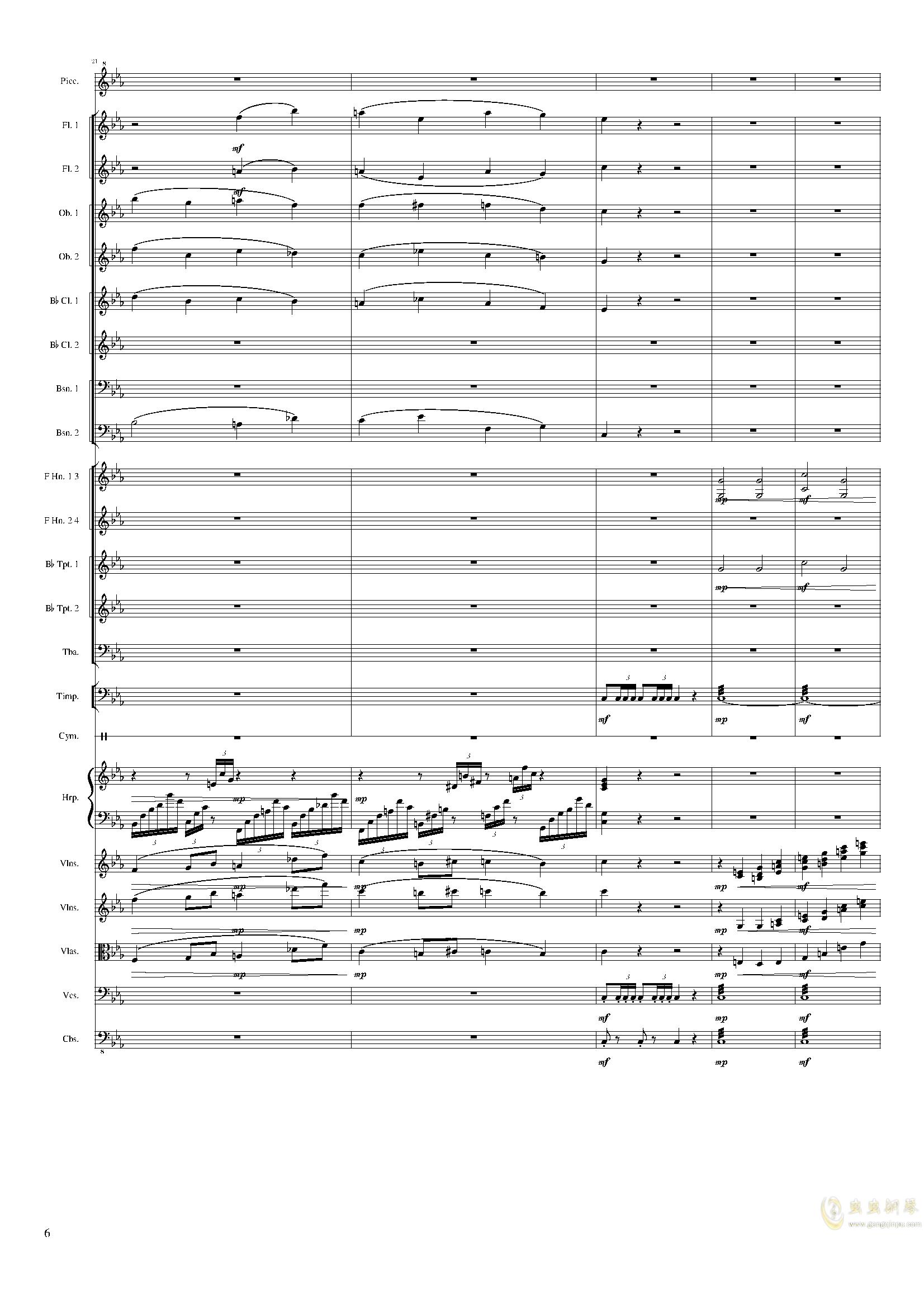 Symphonic Poem No.2, Op.65钢琴谱 第6页