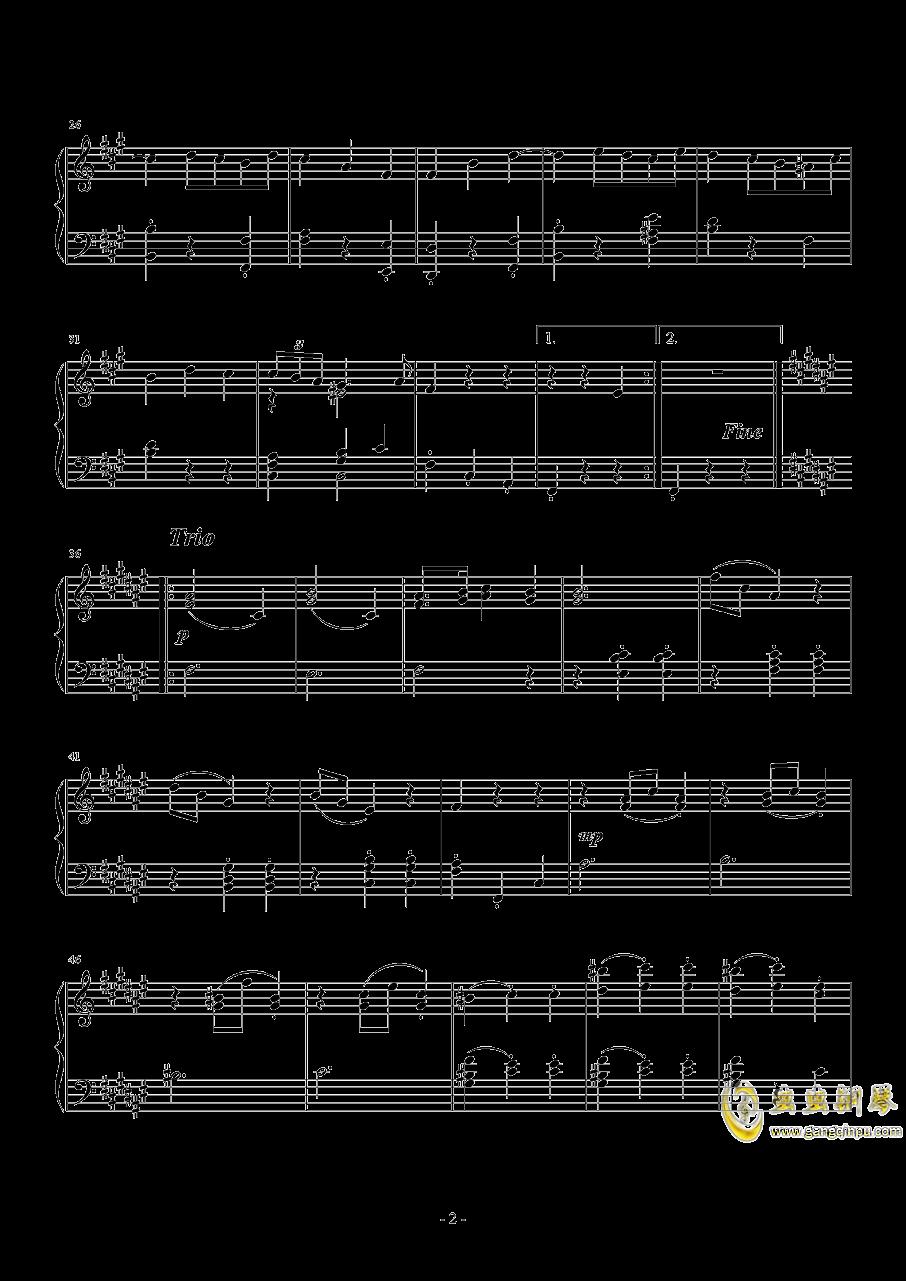 升f小调第二钢琴奏鸣曲  第二乐章 小步舞曲钢琴谱 第2页