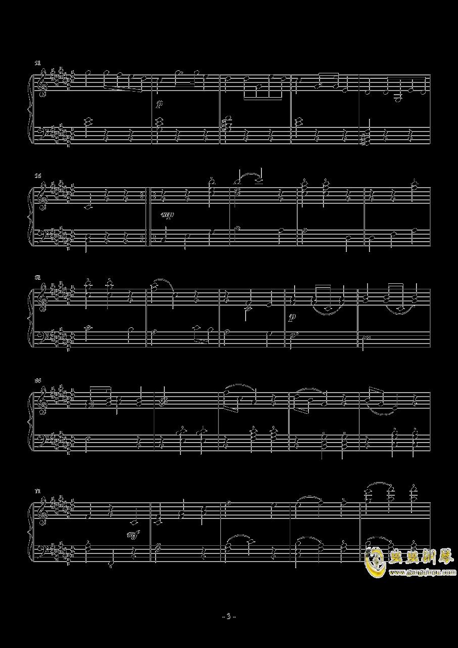 升f小调第二钢琴奏鸣曲  第二乐章 小步舞曲钢琴谱 第3页