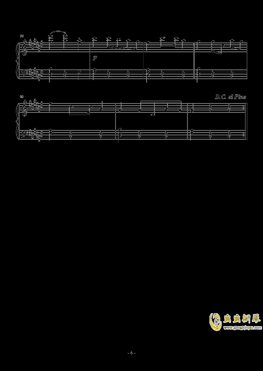 升f小调第二钢琴奏鸣曲  第二乐章 小步舞曲钢琴谱 第4页