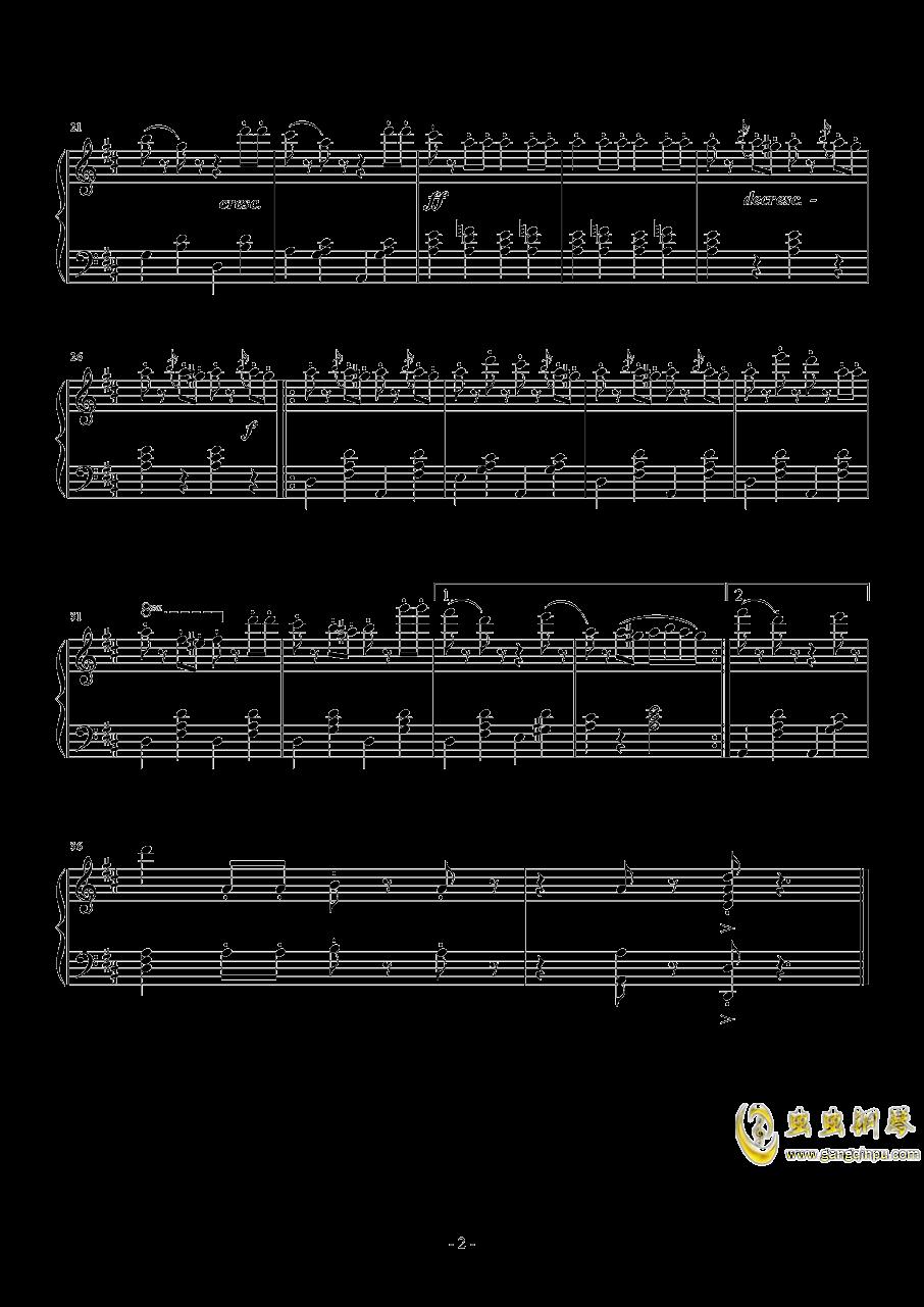生日快乐歌钢琴谱 第2页