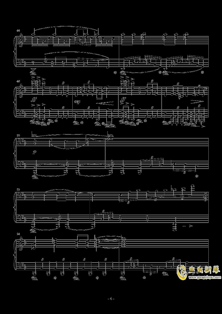 单翼天使钢琴谱 第4页