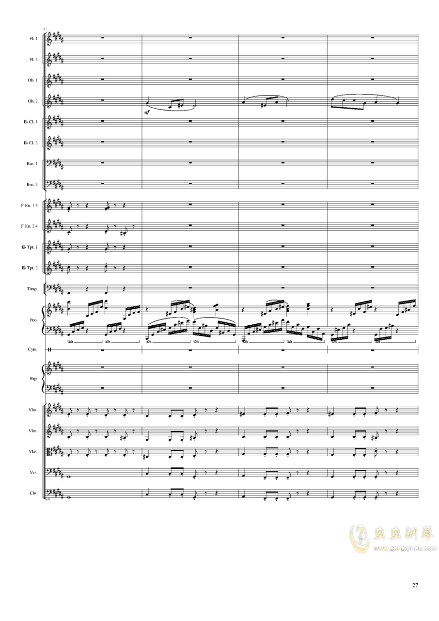 Symphonic Poem No.3, Op.91 Part 3钢琴谱 第27页