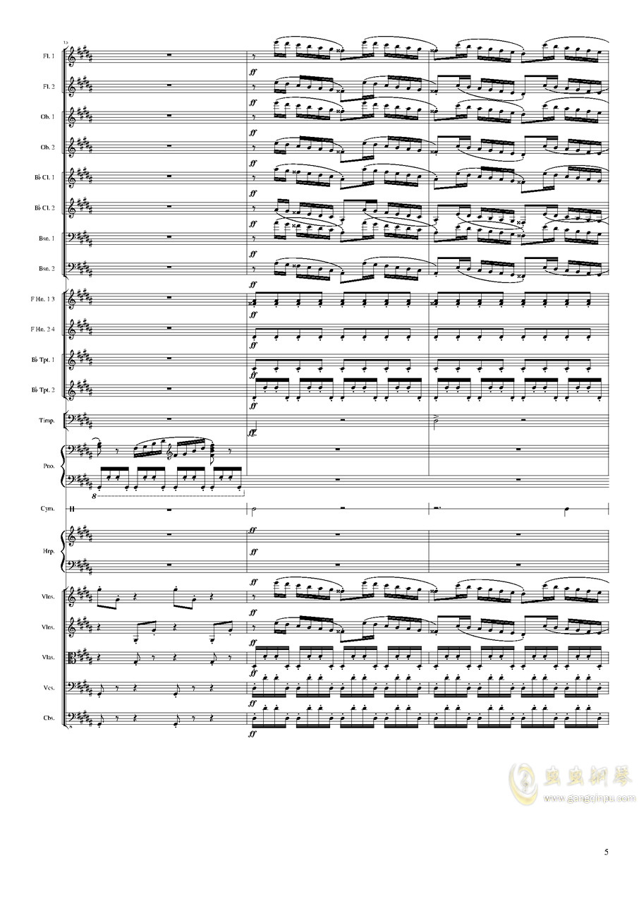 Symphonic Poem No.3, Op.91 Part 3钢琴谱 第5页
