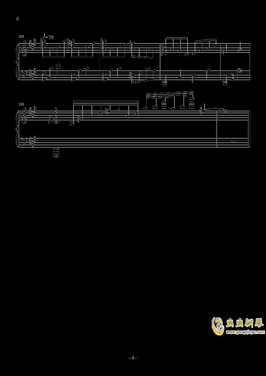 红玫瑰钢琴谱 第6页