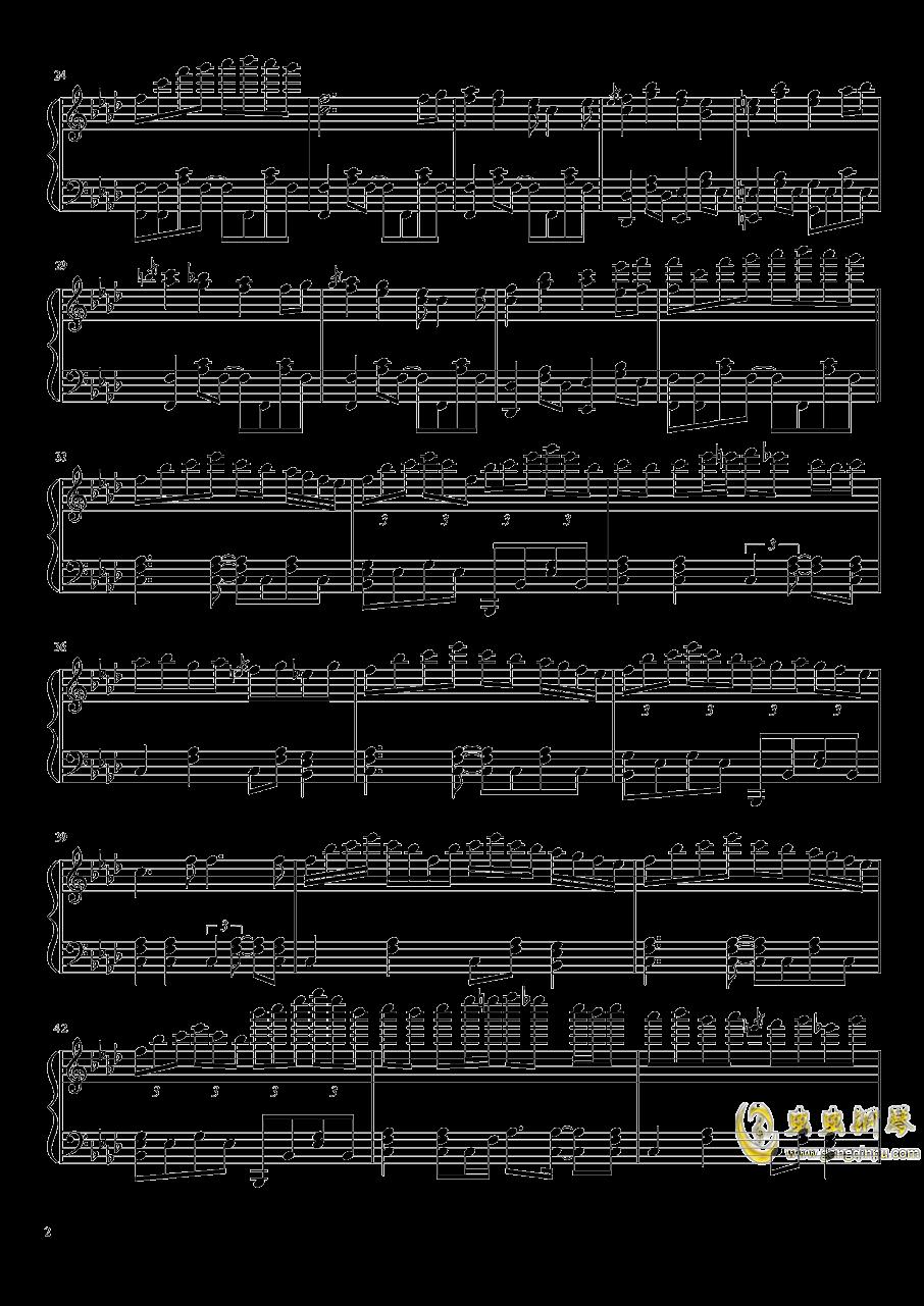 冻结的永远之都钢琴谱 第2页