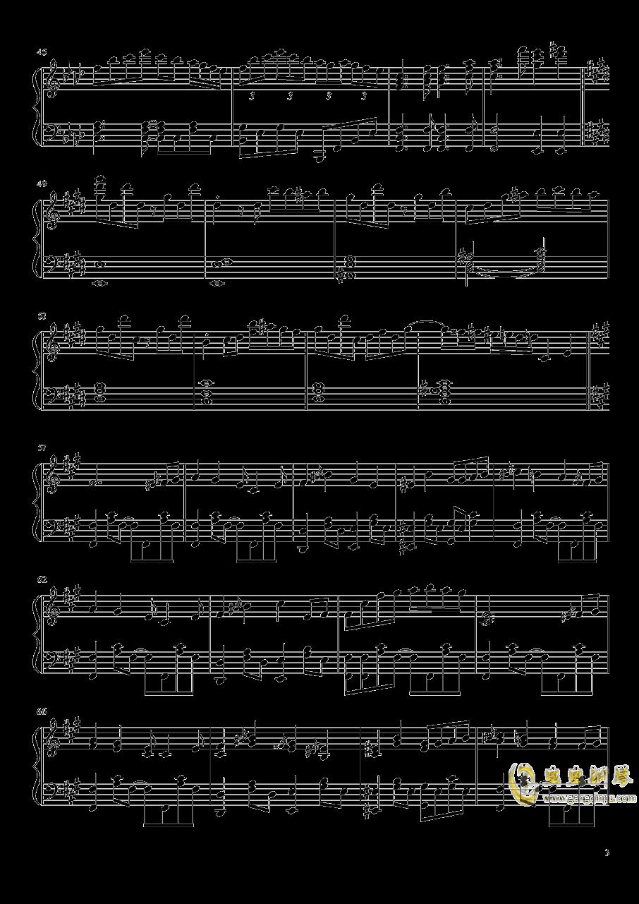 冻结的永远之都钢琴谱 第3页