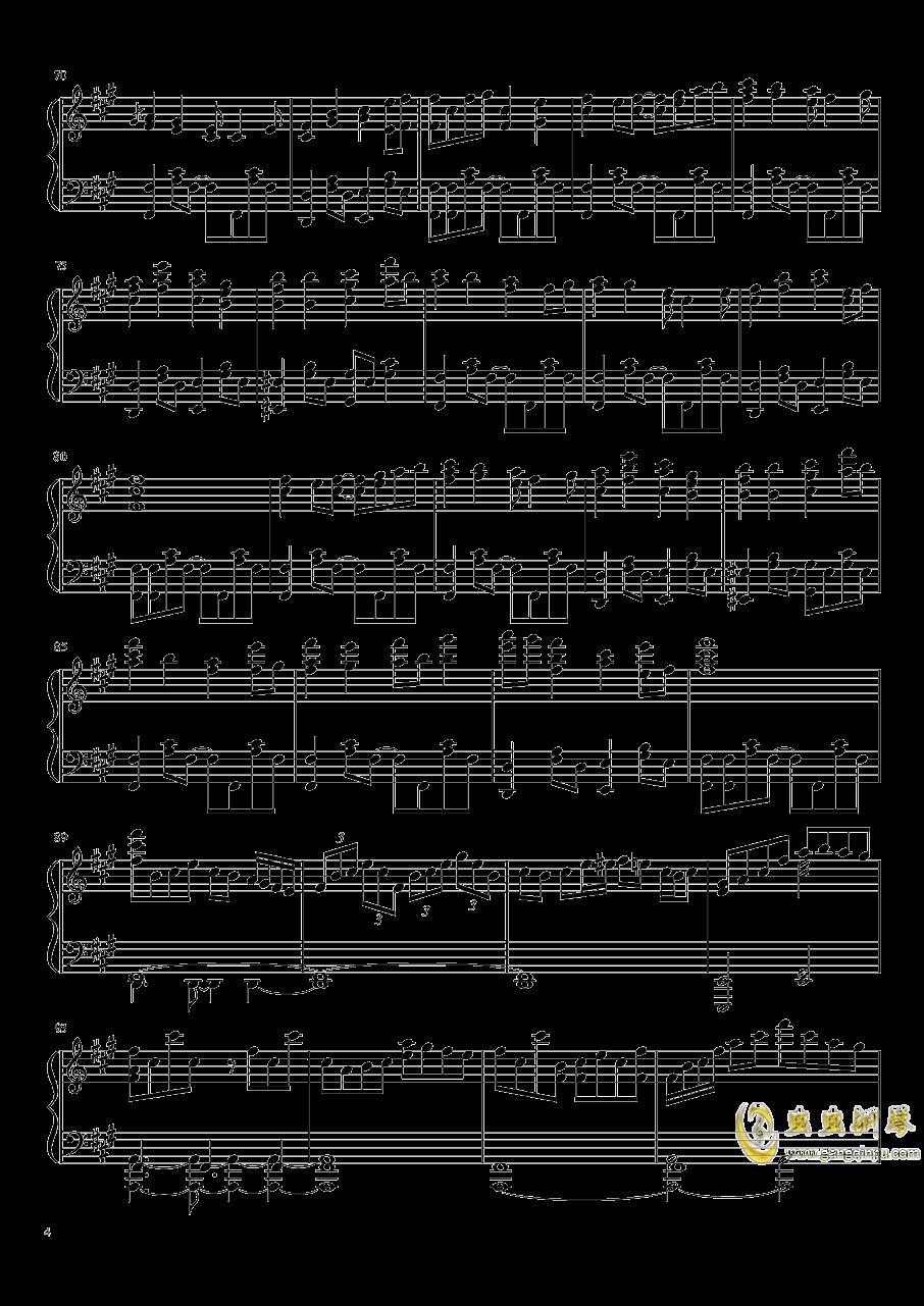 冻结的永远之都钢琴谱 第4页