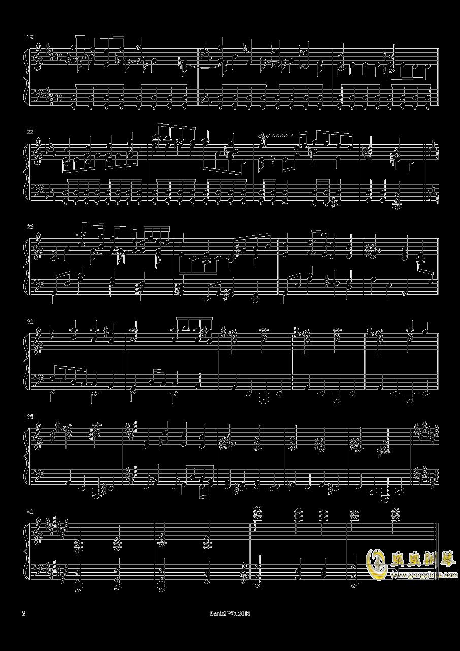 前奏曲,作品14,第2号钢琴谱 第2页