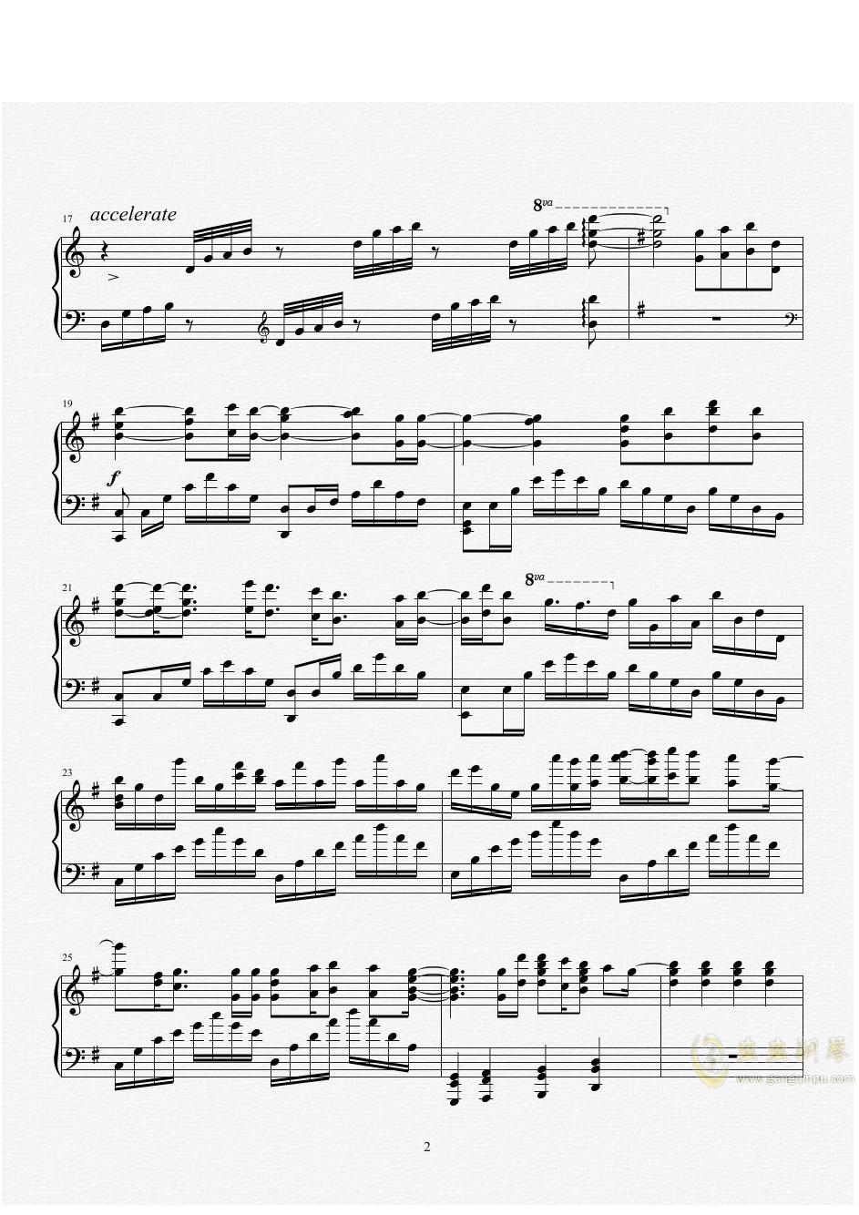 a letter 钢琴谱 第2页