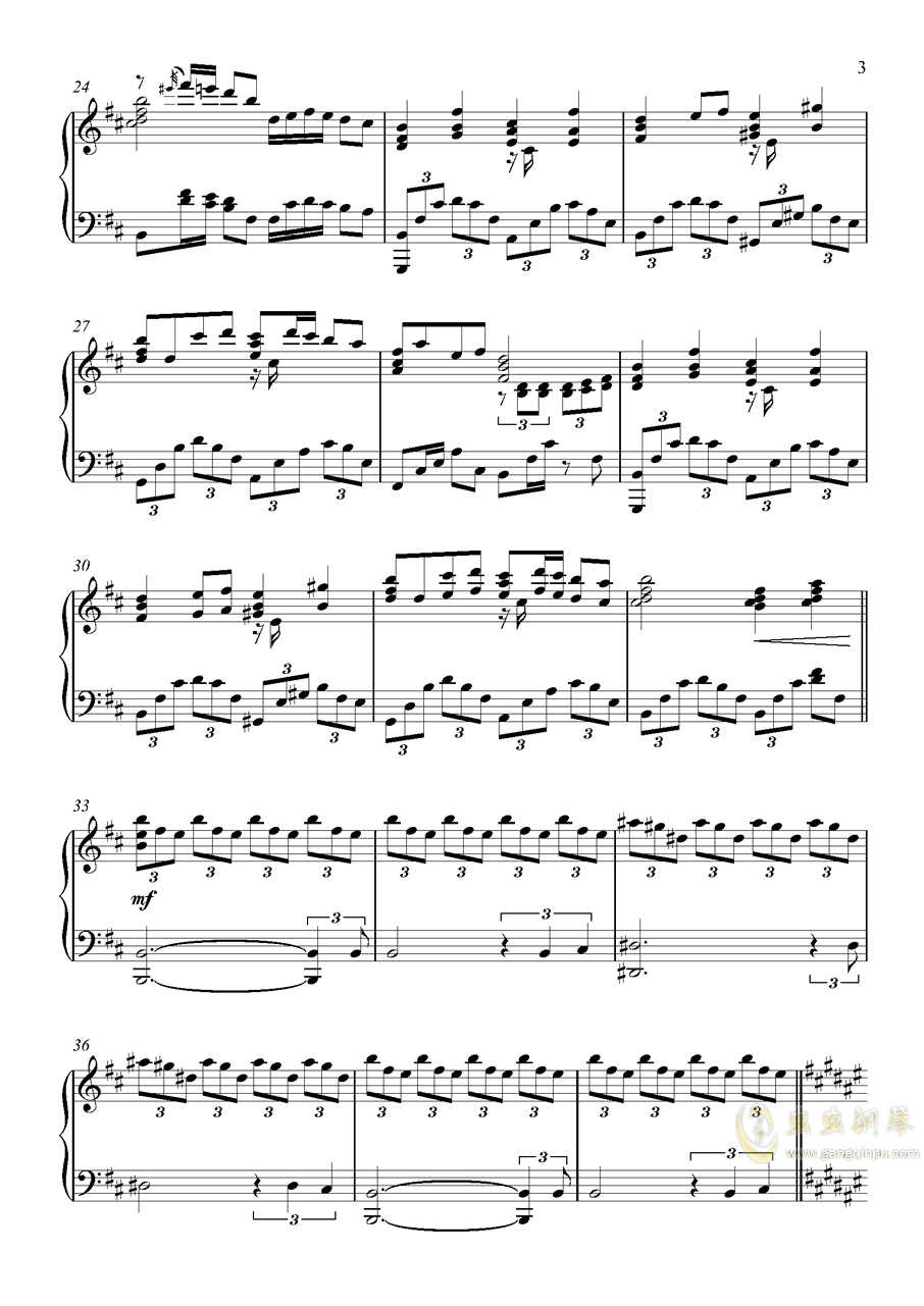 U.N.オ�`エンは彼女なのか钢琴谱 第3页