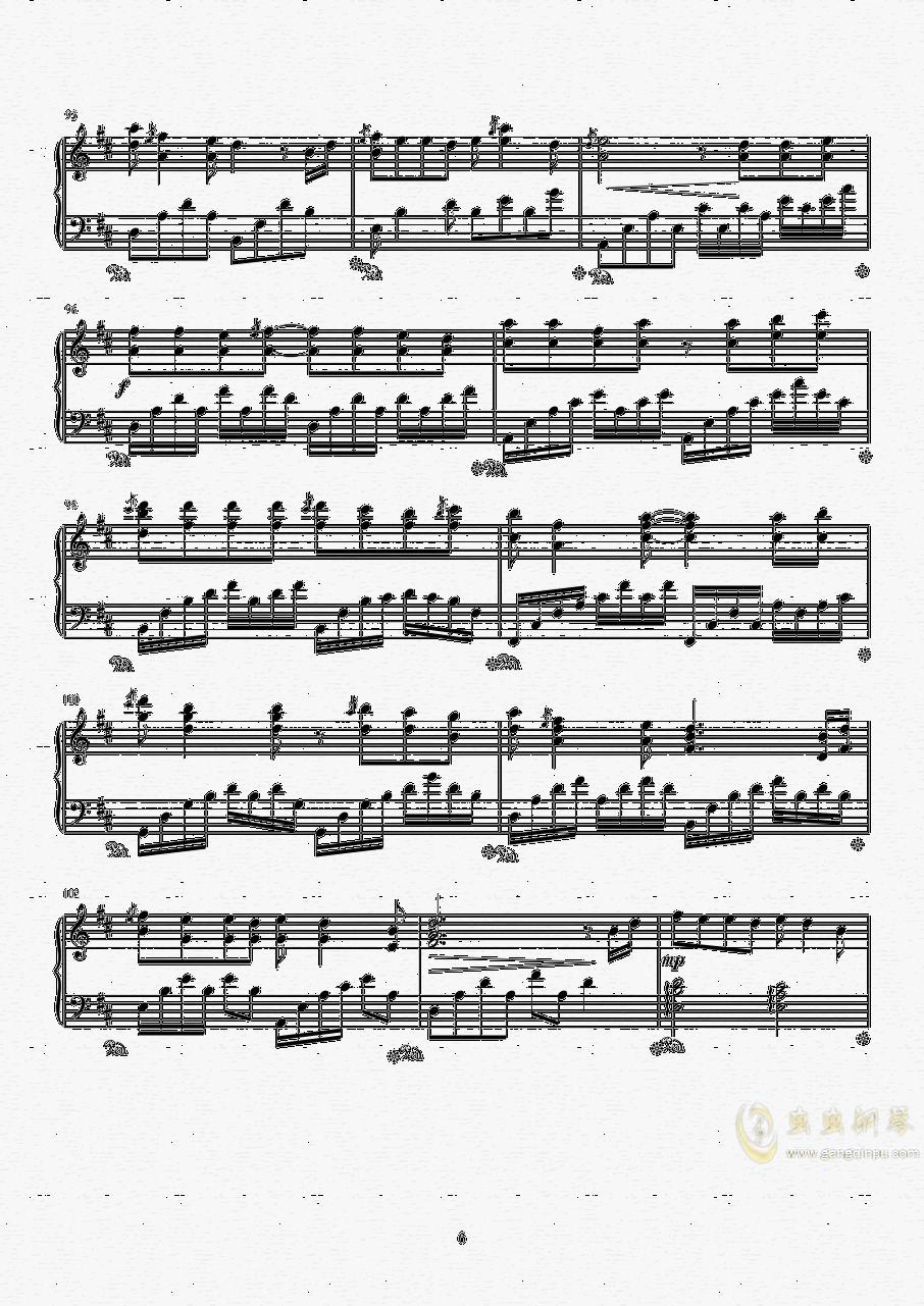 纸短情长钢琴谱 第6页