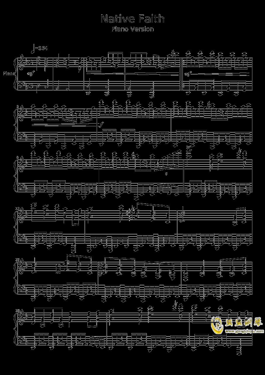 Native Faith钢琴谱 第1页