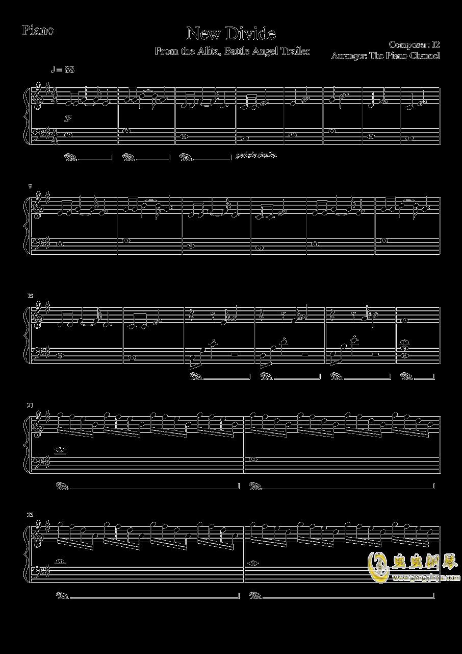 New Divide--Alita: Battle Angel Trailer Song钢琴谱 第1页