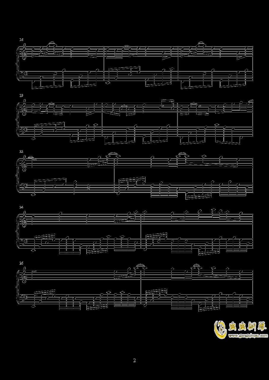 叹云兮钢琴谱 第2页
