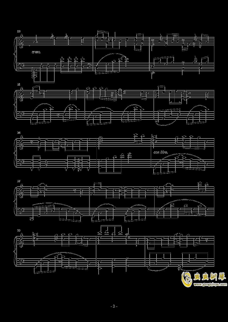 雨滴之歌钢琴谱 第2页