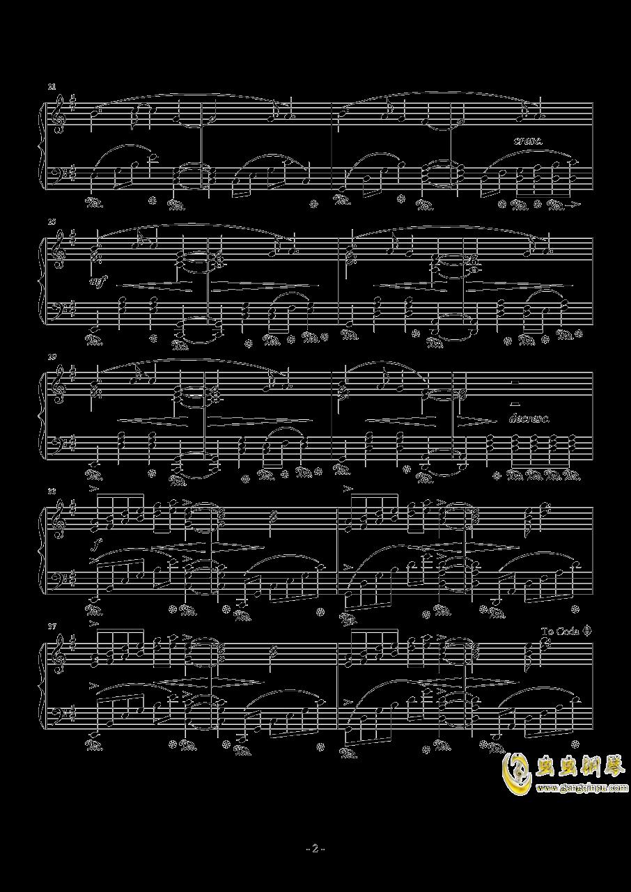 自由的代价钢琴谱 第2页