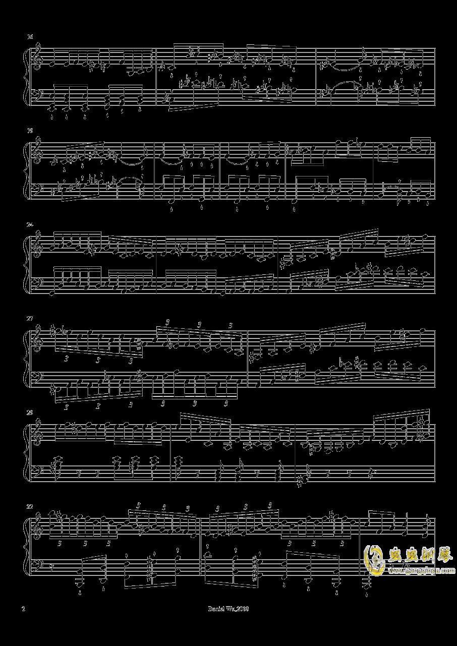 前奏曲,作品14,第1号钢琴谱 第2页