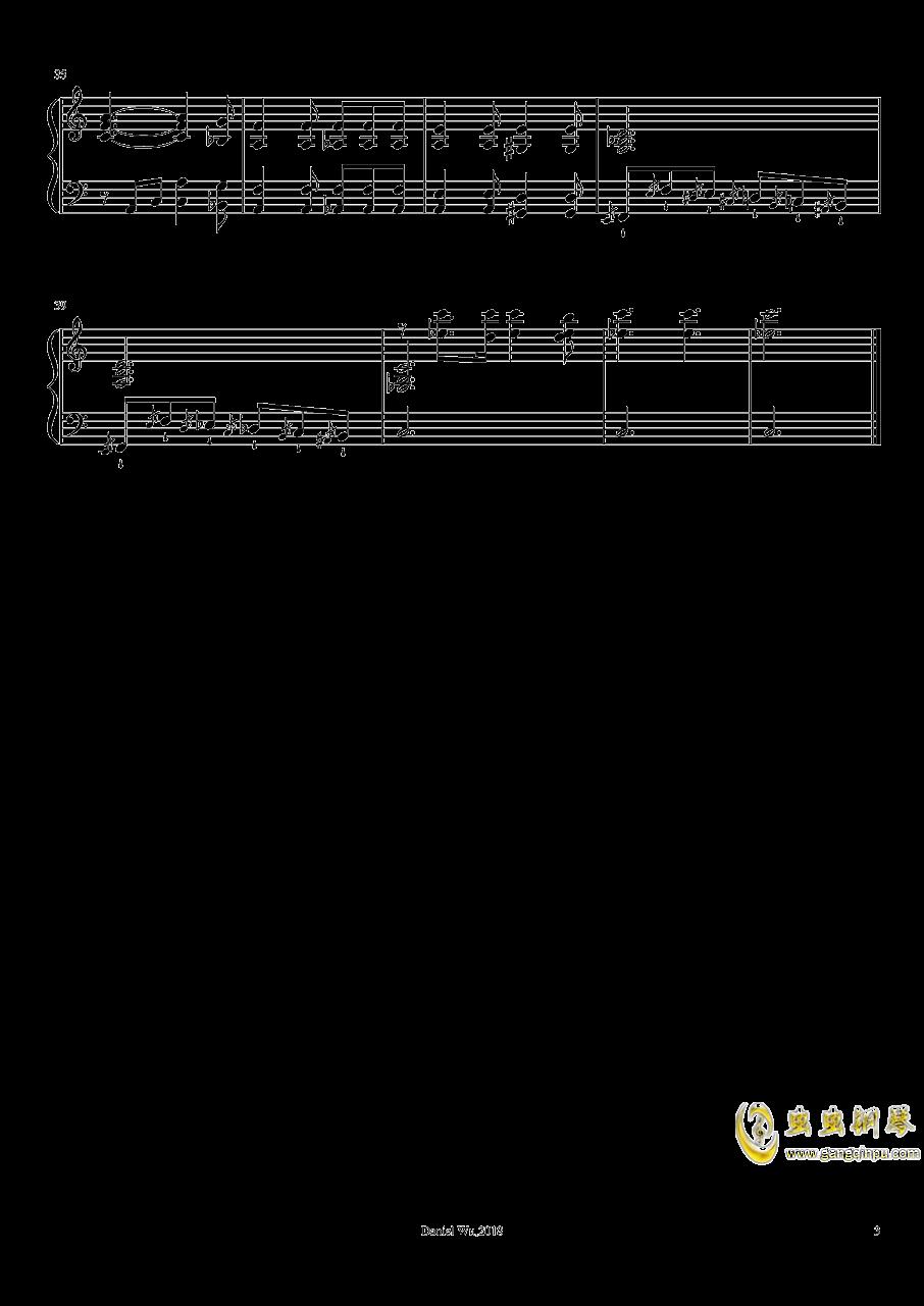 前奏曲,作品14,第1号钢琴谱 第3页