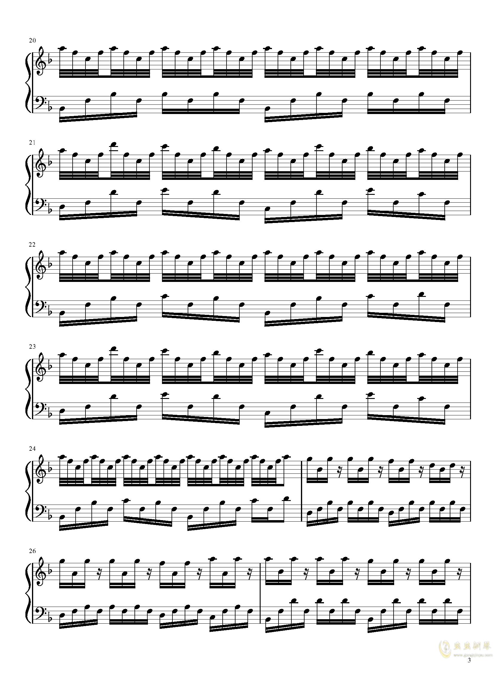 summer V钢琴谱 第3页