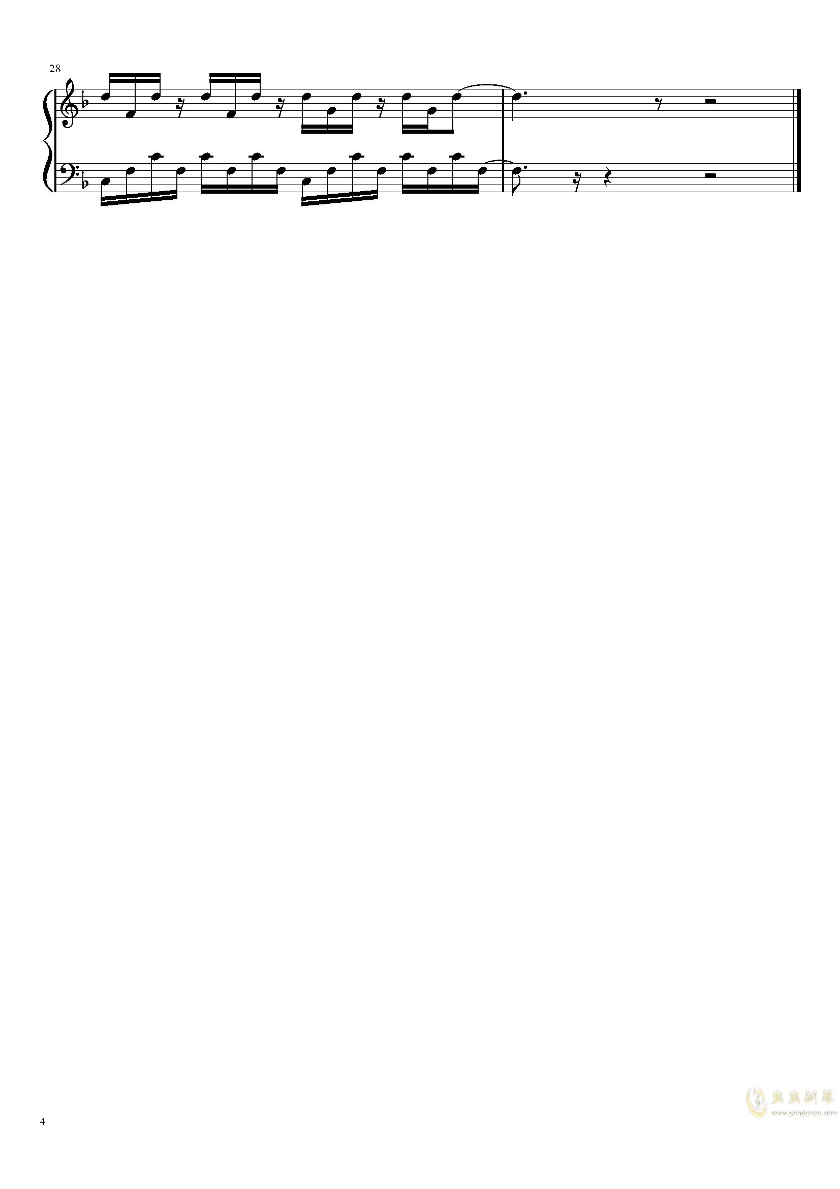 summer V钢琴谱 第4页