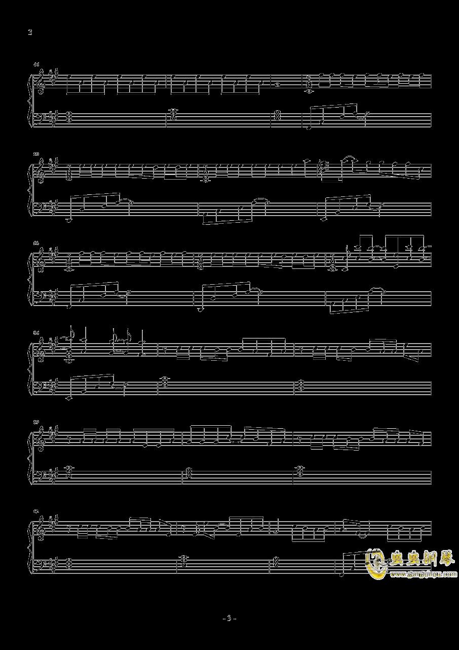 缺氧钢琴谱 第3页