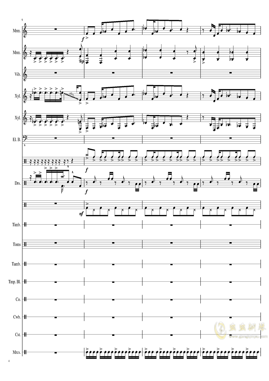 Suddenly,Jazz!钢琴谱 第4页