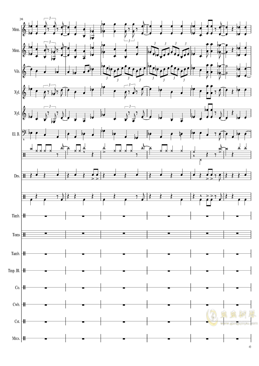 Suddenly,Jazz!钢琴谱 第43页