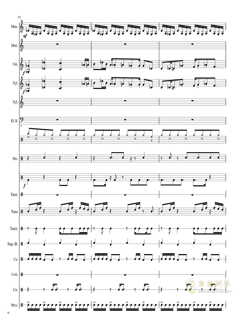 Suddenly,Jazz!钢琴谱 第50页