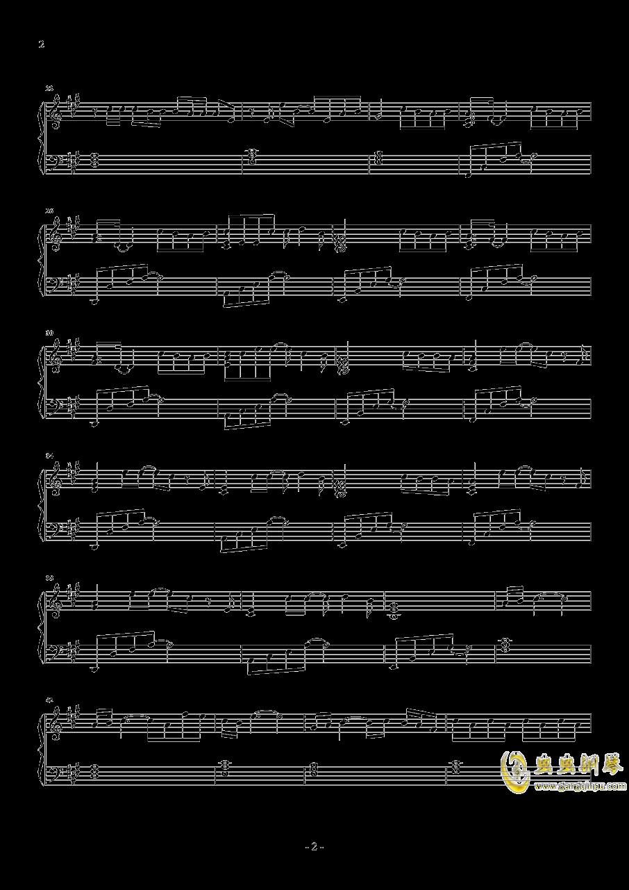缺氧钢琴谱 第2页