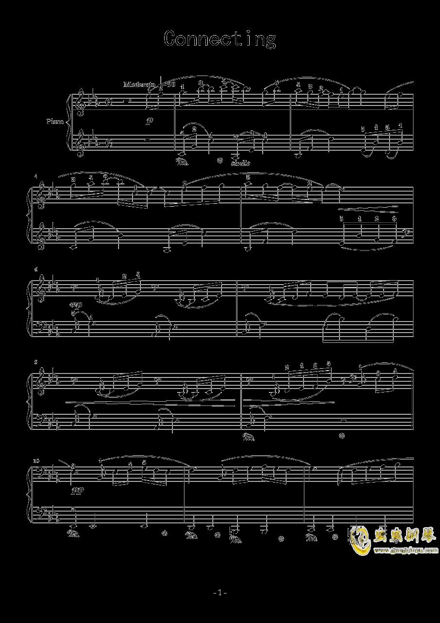 Connecting钢琴谱 第1页