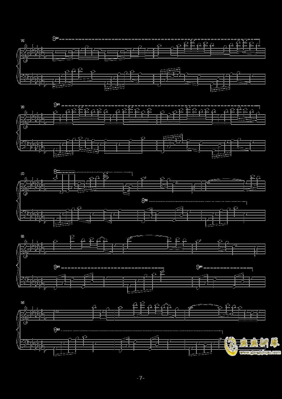 琴键上的女孩钢琴谱 第7页
