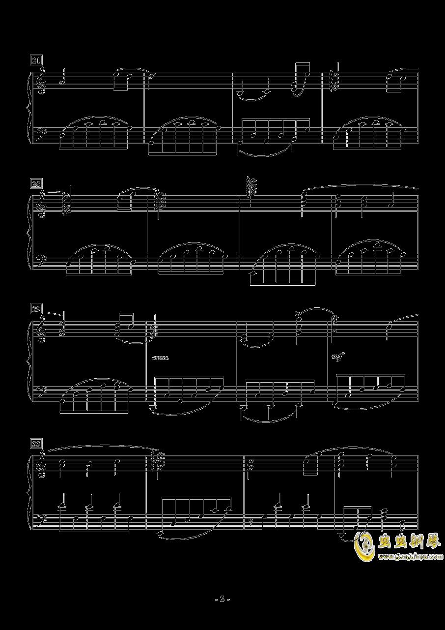 世界の�s束钢琴谱 第2页