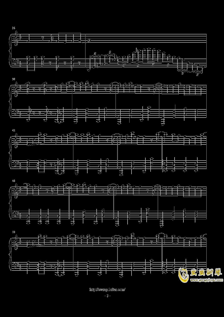 sweet钢琴谱 第3页