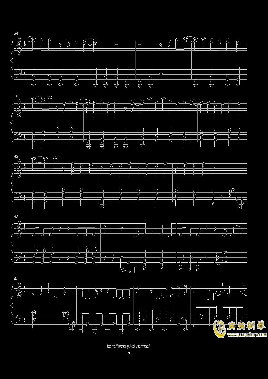 sweet钢琴谱 第4页