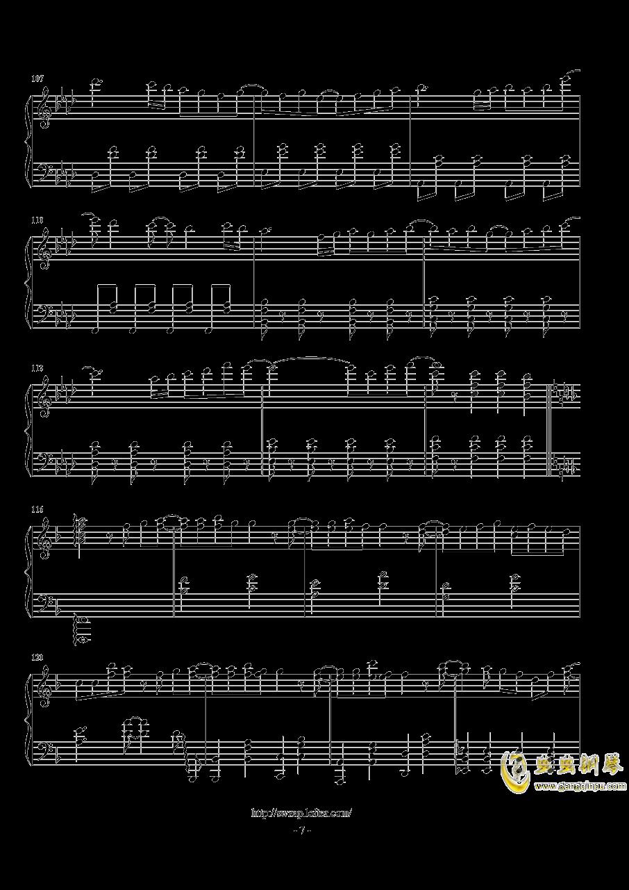 sweet钢琴谱 第7页