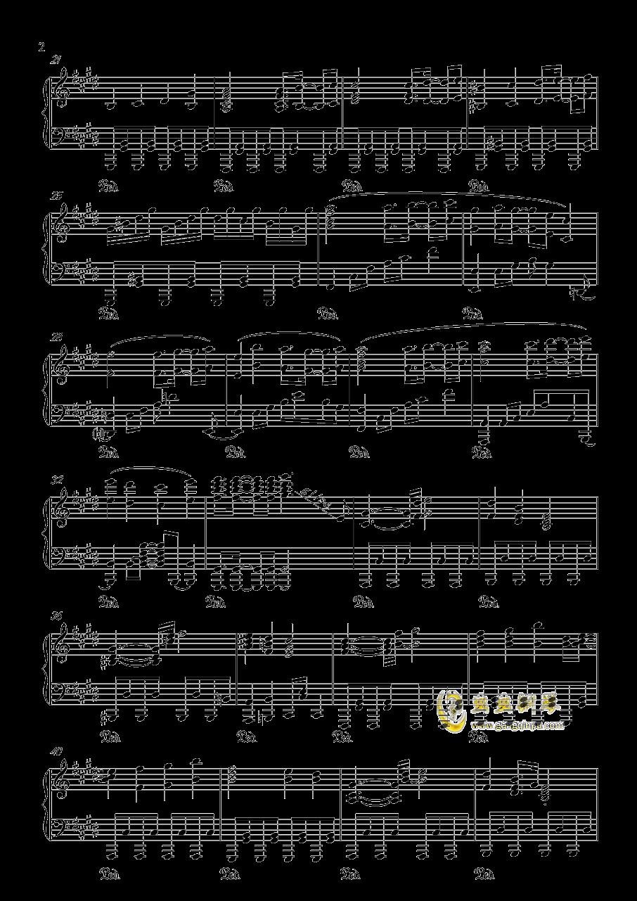 信仰は儚き人間の為に钢琴谱 第2页