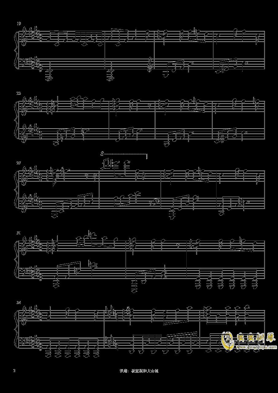 猫ハ�Lニ憧レル钢琴谱 第2页