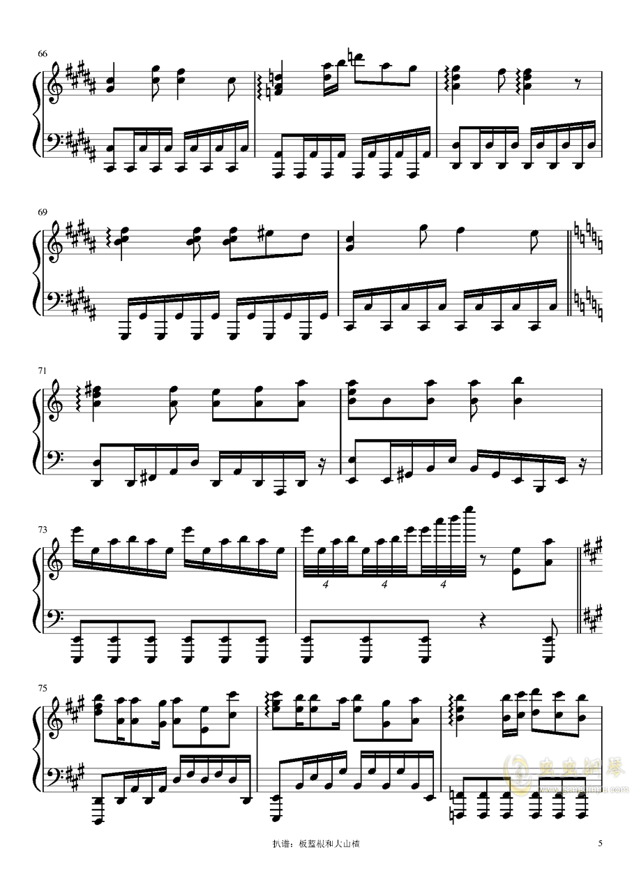 猫ハ�Lニ憧レル钢琴谱 第5页