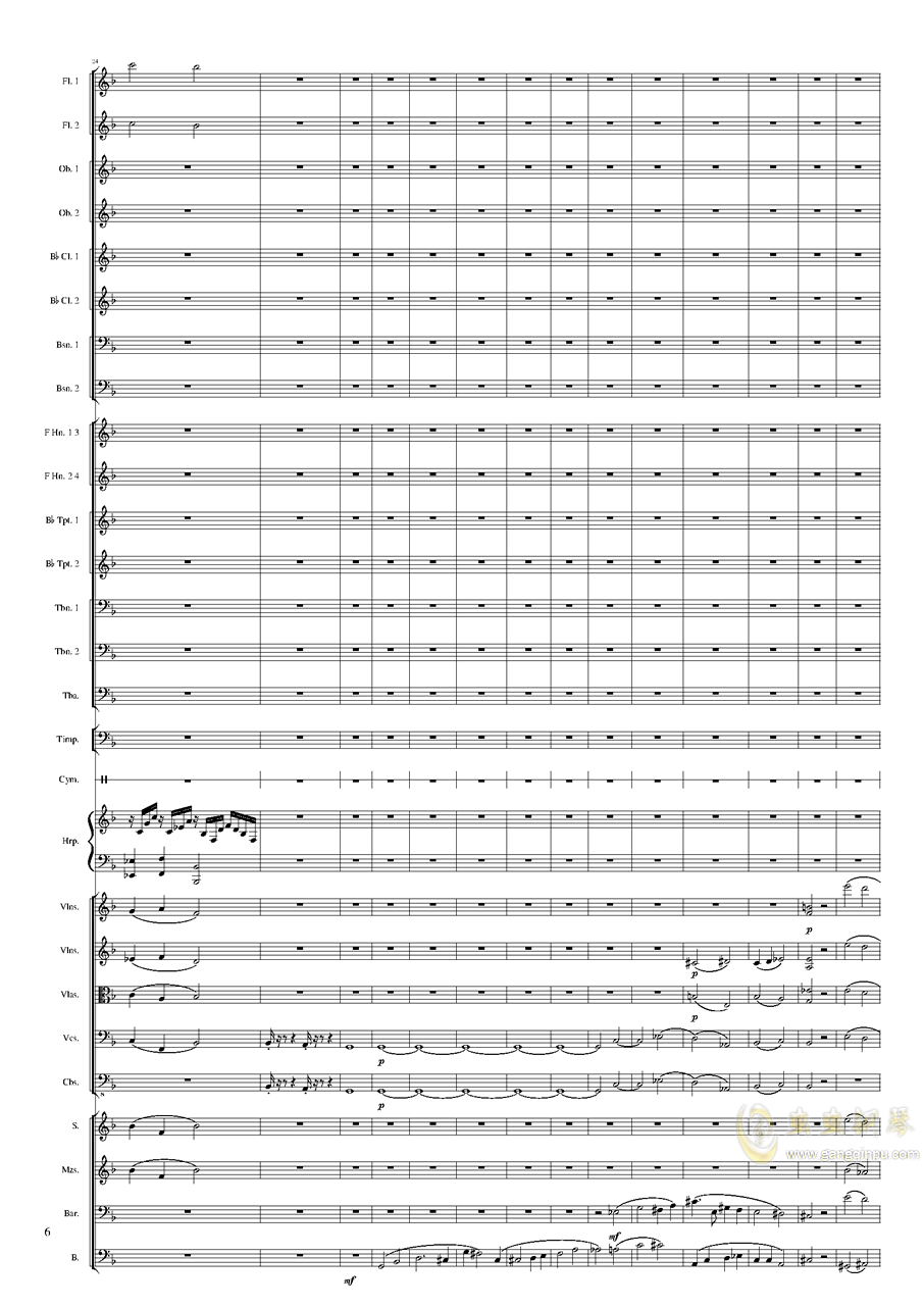 钢琴谱 第6页