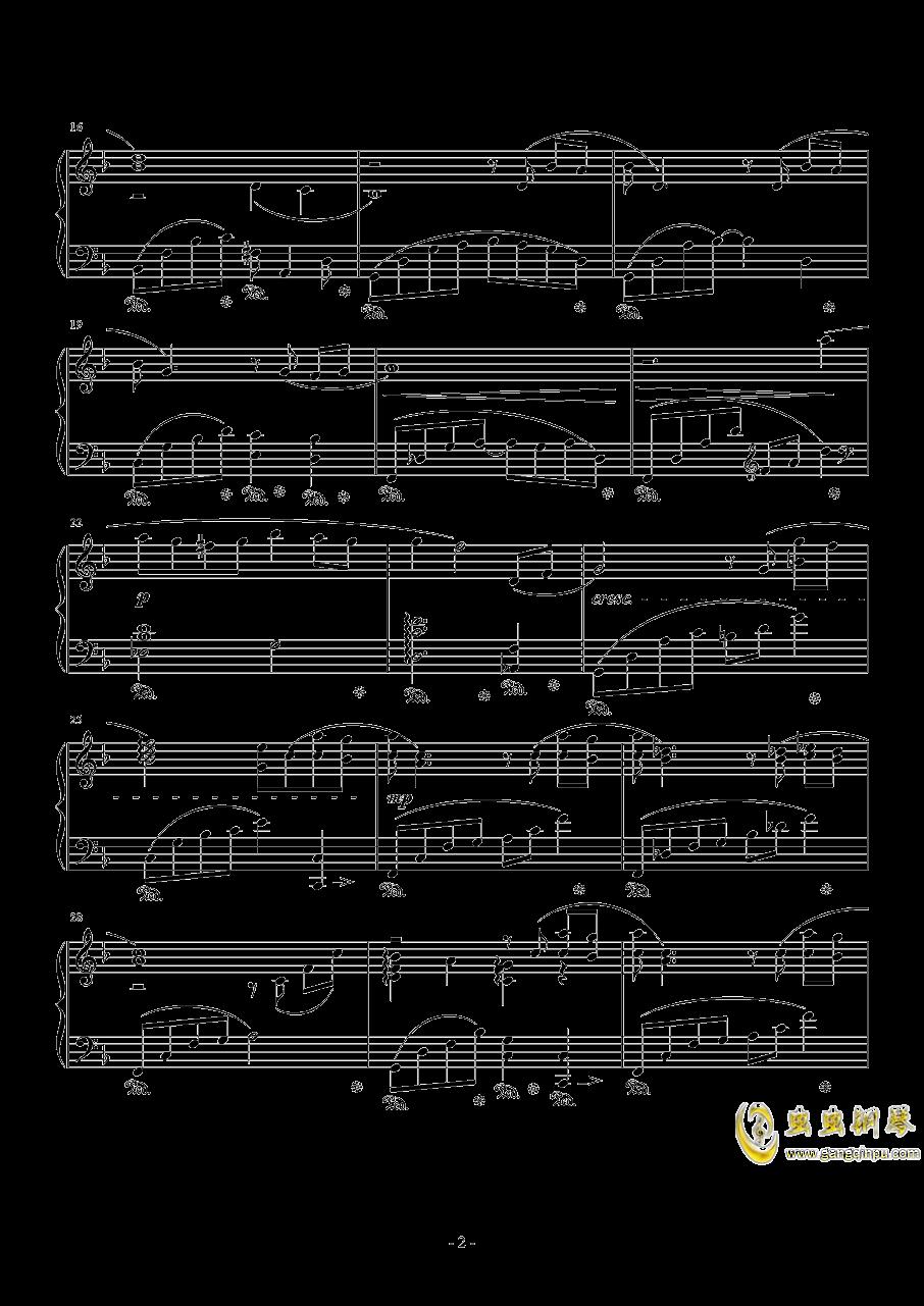 蒂法主题曲钢琴谱 第2页