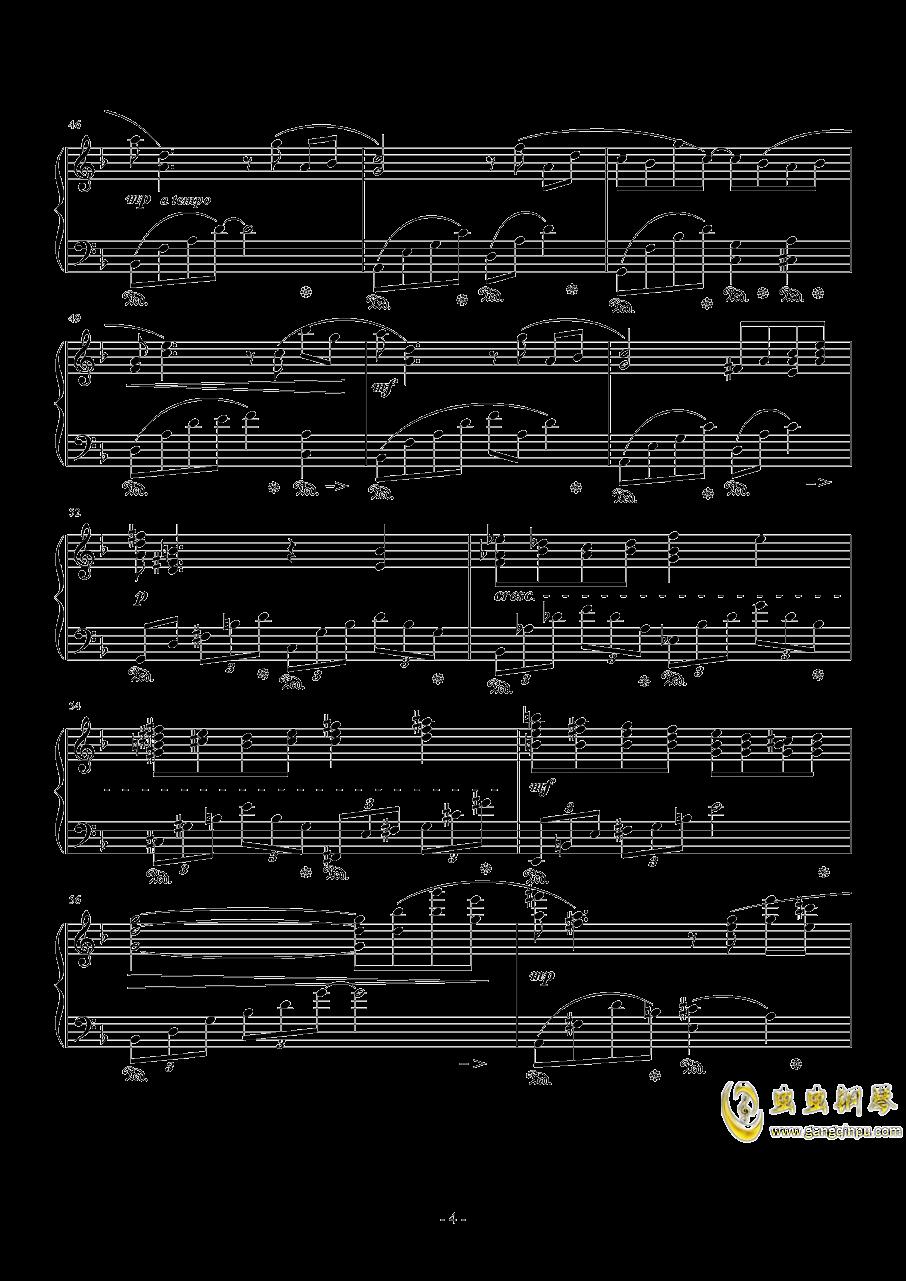 蒂法主题曲钢琴谱 第4页